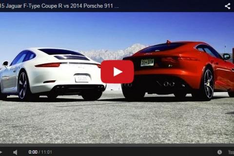Jag F type vs Porsche 911